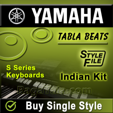 Aaj ko junali raat maa - Yamaha Tabla Style/ Beats/ Rhythms - Indian Kit (SFF1 & SFF2)