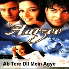 Ab Tere Dil Mein - Mp3 + VIDEO Karaoke - Kumar Sanu - Alka - Aarzoo